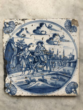 Load image into Gallery viewer, 18 th century bible delft tile flight from Egypt
