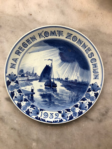 Royal Delft handpainted dutch plate 1932