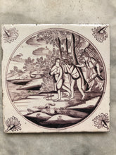 Afbeelding in Gallery-weergave laden, 18 th century delft tile with Adam and Eve