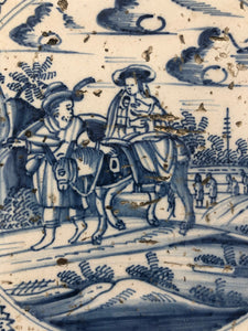18 th century bible delft tile flight from Egypt