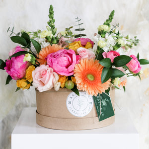Hat Box Flowers