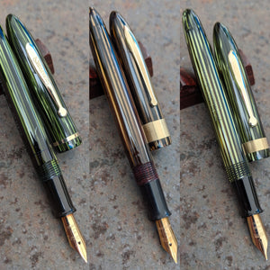 A trio of Sheaffer Balance Craftsman Vacuum-Fil pens from the mid-late 1930s