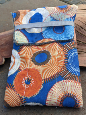 Gatemouth Hand-made Six Pen Case - Blue Paisley