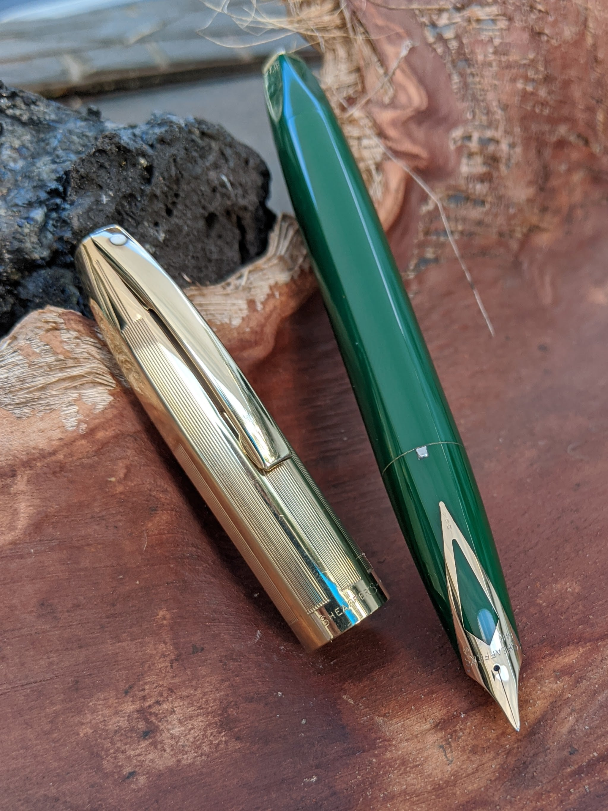 Green Sheaffer PFM V - Fine nib