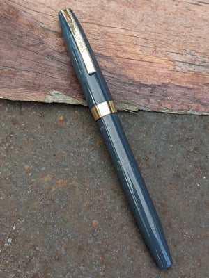 "~1964 Grey Sheaffer 500 ""Dolphin"" fine"