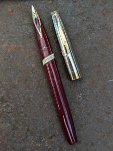 ~1964 Burgundy Sheaffer Lifetime 1500 medium