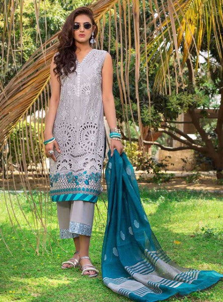 Ladies Unstitched 3pc Luxury Lawn Collection'2020 By Zainab Chottani MARINE ORCHID B