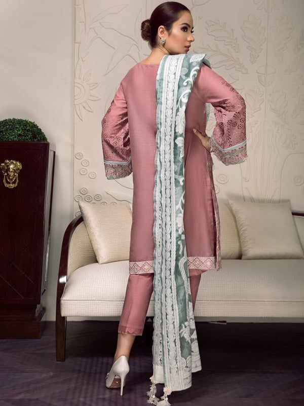 Ladies Un-Stitch Embroidered Luxury Swiss Lawn D-04 ZOEY