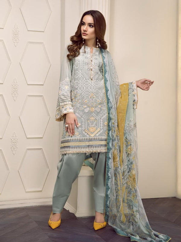 Ladies Un-Stitch Embroidered Luxury Swiss Lawn D-07 EVERLY