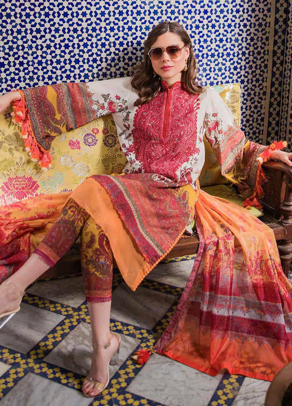 Ladies Un-Stitch Sobia Nazir Luxury Lawn 2020 14B