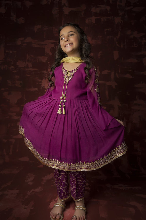 Girls Formal 3 Piece Suit Purple KDD-01316