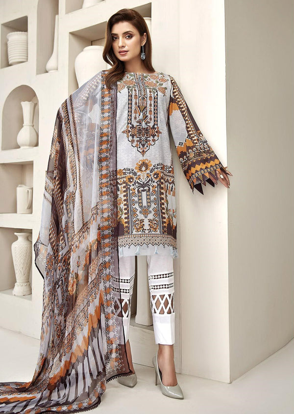 Ladies Un-Stitch Embroidered Lawn Collection 2020 By Farasha Sundaze Blaze