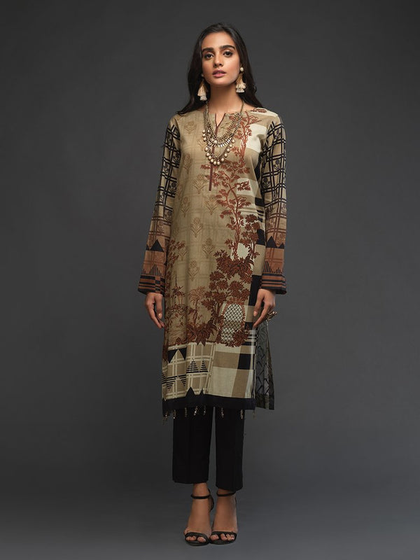Ladies Un-stitched 1pc Digital Printed Kurti (UK-00011) Salitex