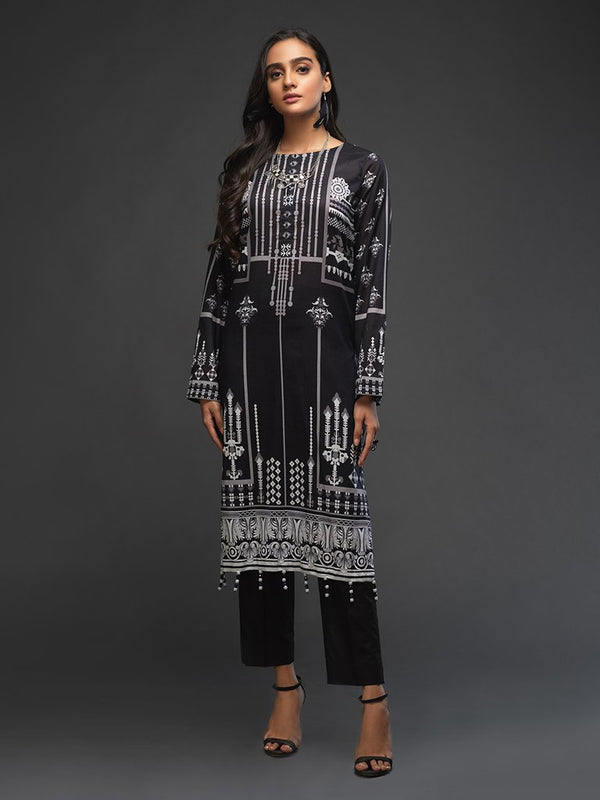 Ladies Un-stitched 1pc Digital Printed Kurti (UK-00012) Salitex