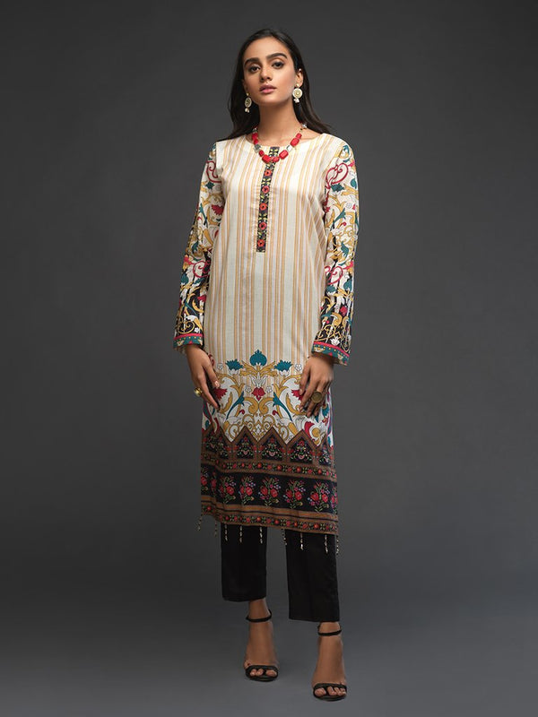 Ladies Un-stitched 1pc Digital Printed Kurti (UK-00013) Salitex