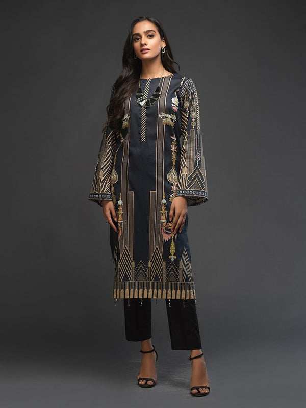 Ladies Un-stitched 1pc Digital Printed Kurti (UK-00014) Salitex