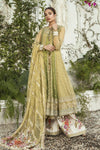 Ladies Un Stitch 3pcs Mbroidered Eid Collection By Maria B Olive Green (BD-1904)
