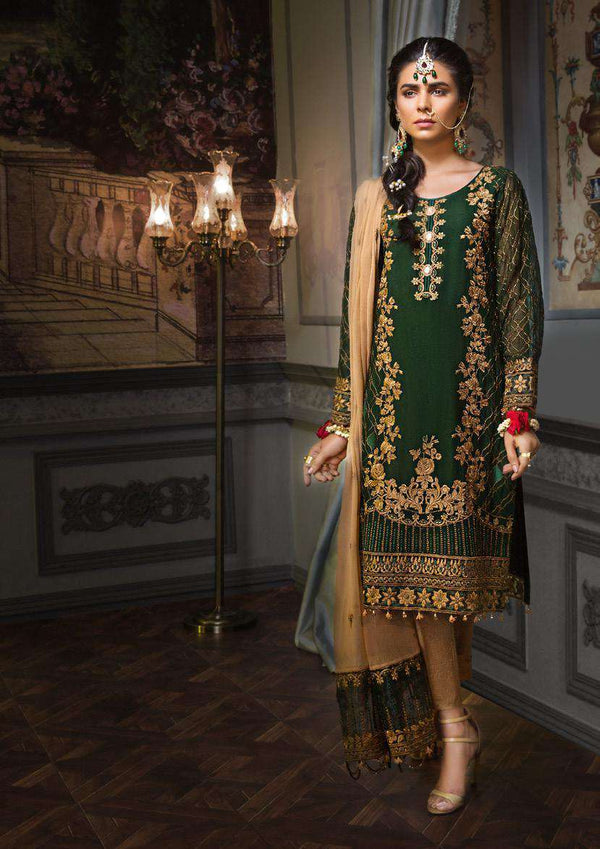 Ladies Un-Stitch Zeenat by Mohagni Luxury Chiffon Collection D-07