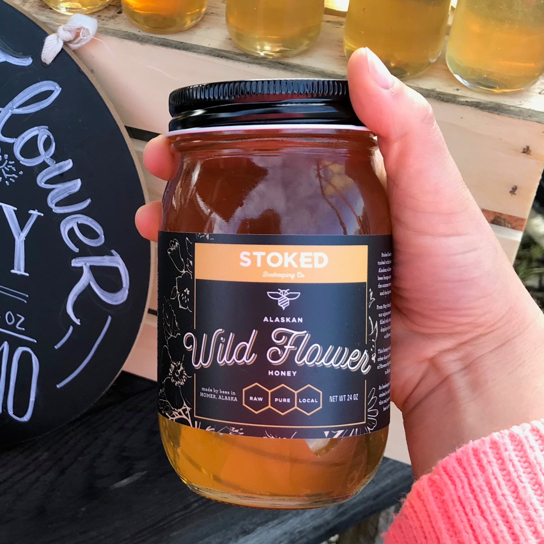 Radical Alaskan Wildflower Honey - 24 oz