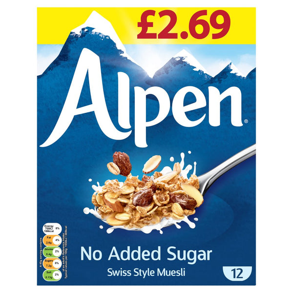 Alpen No Added Sugar Swiss Style Muesli 550g