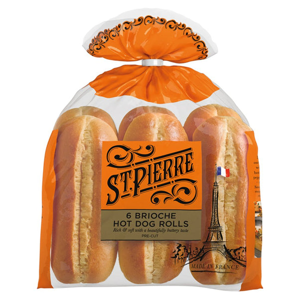 Brioche Hot Dog Rolls (6 Pack)