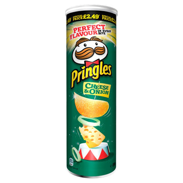 Pringles Cheese & Onion Crisps (200g)