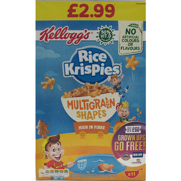 Kellogg's Rice Krispies Multigrain Shapes (350g)