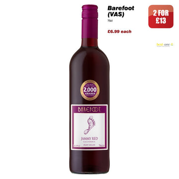 Barefoot Jammy Red (75cl)
