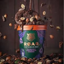 Roar Plant Based Hazelnut Chocolate Cookie  Ice Cream (500ml)