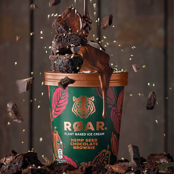 Roar Plant Based Hemp Seed Chocolate Brownie Ice Cream (500ml)