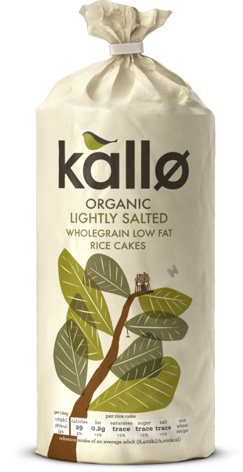 Kallo Organic Lightly Salted Rice Cakes