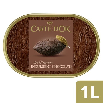Carte D'Or Indulgent Chocolate Ice Cream (1000ml)