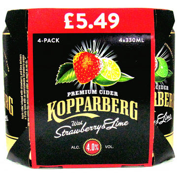 Koppaberg Strawberry & Lime 4 pack  (330ml)