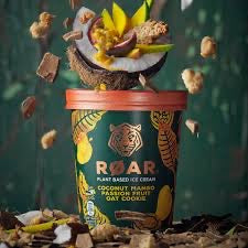 Roar Plant Based Coconut,Mango, Passion Fruit, Oat Cookie   Ice Cream (500ml)