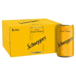 Schweppes Tonic Water (6x150ml)
