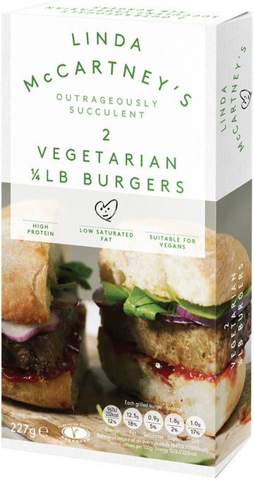 Linda McCartney's Vegetarian 1/4 Lb Burgers