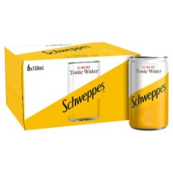 Schweppes Slimline Tonic Water (6x150ml)