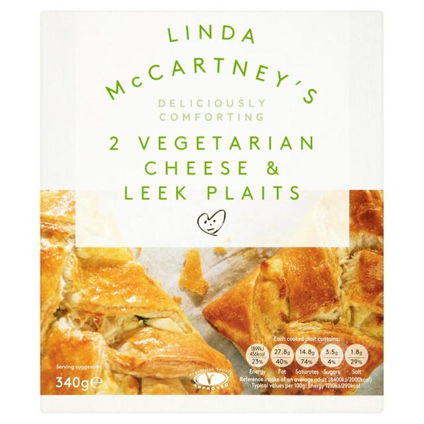 Linda McCartney's 2 vegetarian cheese and leek plaits