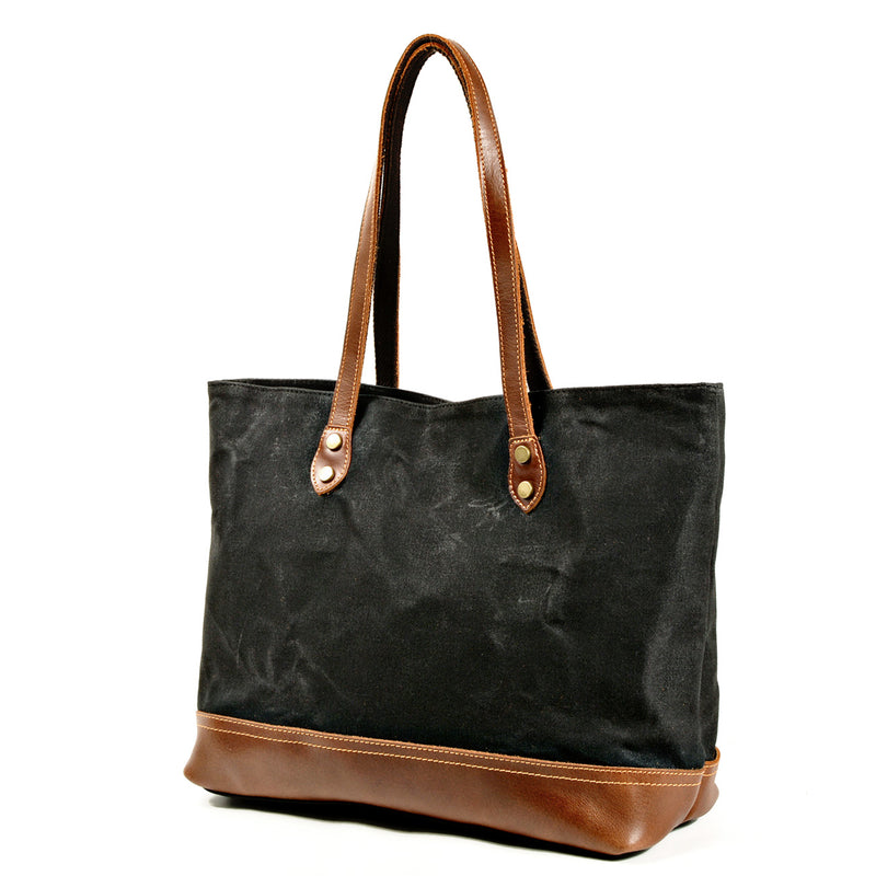 Ivy Birch Canvas and Leather Tote - Ivy Birch Co.