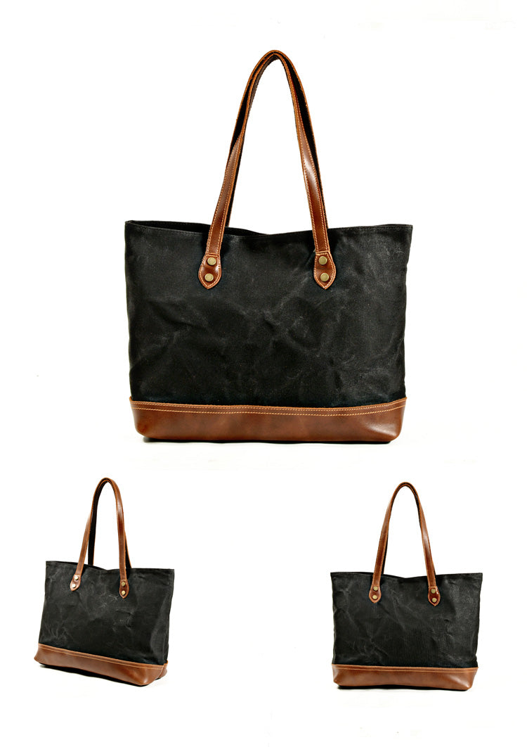 Vera Canvas and Leather Tote