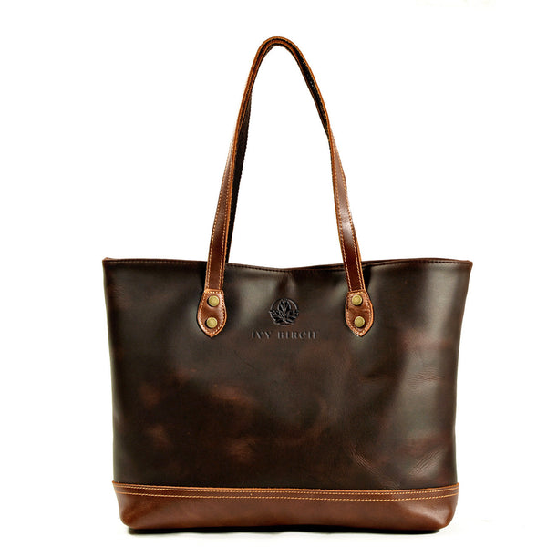 Ivy Birch Top Grain Leather Tote - Ivy Birch Co.