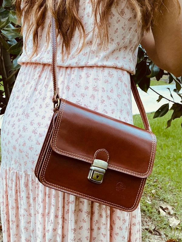 Brio Italian Leather Crossbody