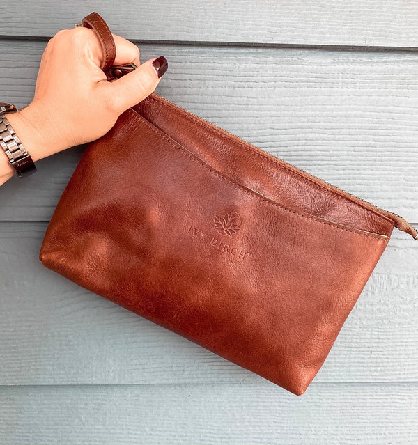 Chloe Top Grain Leather Clutch