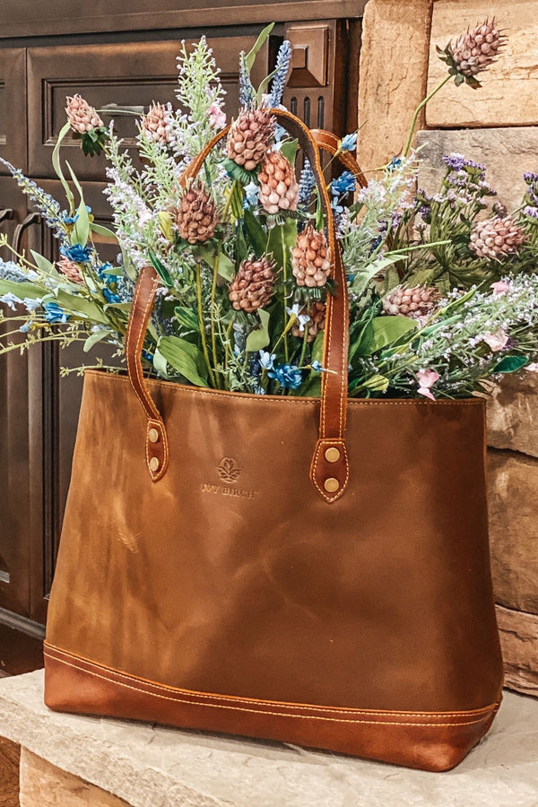 Ivy Vintage Leather Tote