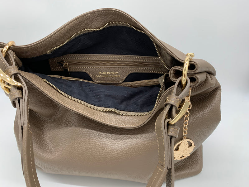 Britt Italian Pebble Leather Hobo