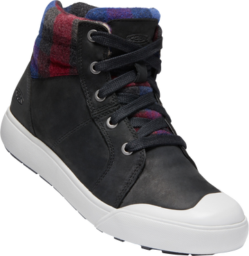 Elena Mid Black/Plaid