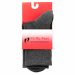Grey Crew Ankle Socks - Non-Slip Heel Tab and Seamless Toes