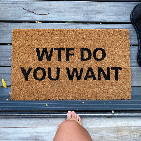 WTF Do You Want Doormat