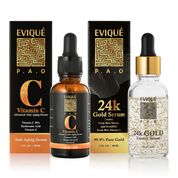 2 x 30ml Evique Luxurious Facial.  Natural Treatment AM/PM