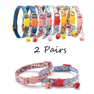 2 Cat Collars - Pampered Paws.shop